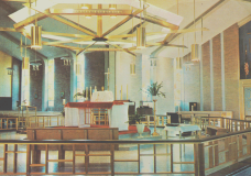 This is an interior view of the church, shown on a postcard from the early 1960's.